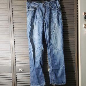 Helix | Straight Leg Medium Wash Jeans